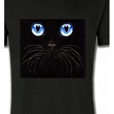 Chat noir yeux bleus (S)