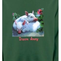 Sweatshirts Signes astrologiques 2 cochons blancs (A)