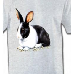 T-Shirts Signes astrologiques Lapin noir et blanc