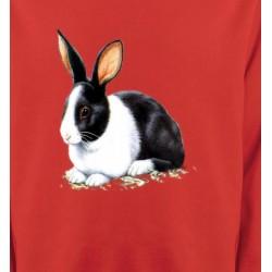 Sweatshirts Signes astrologiques Lapin noir et blanc