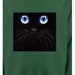 Sweatshirts Sweatshirts Unisexe Chat noir yeux bleus (S)