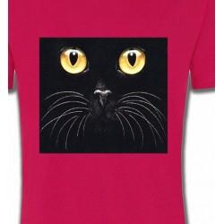 T-Shirts T-Shirts Col Rond Enfants Chat noir (H1)