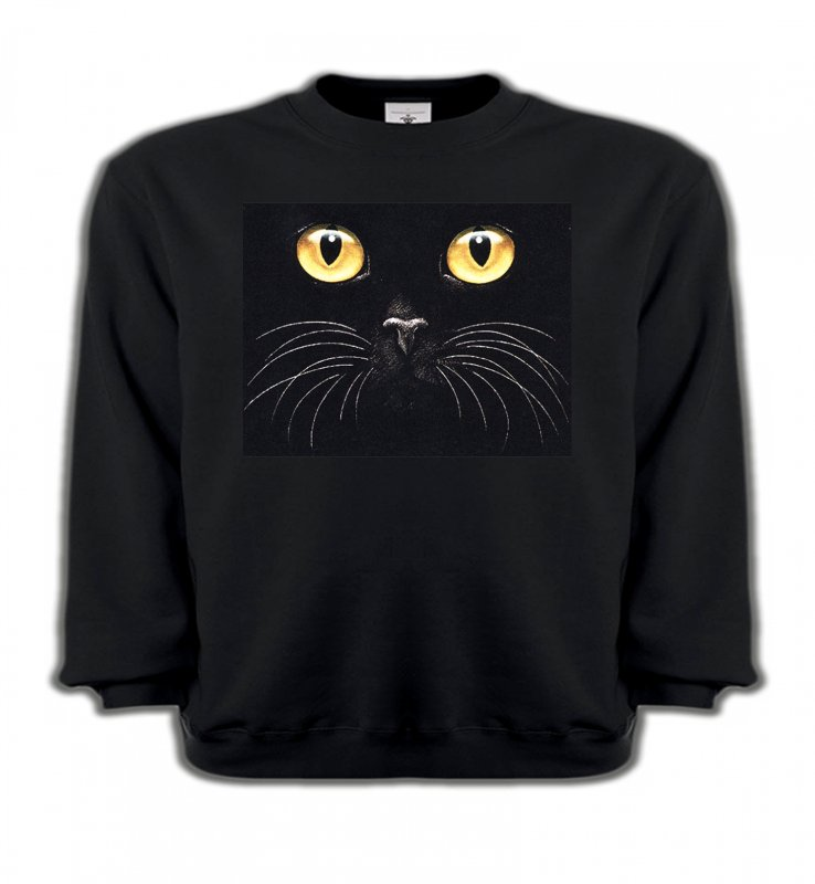 Sweatshirts Enfants Races de chats Chat noir (H1)