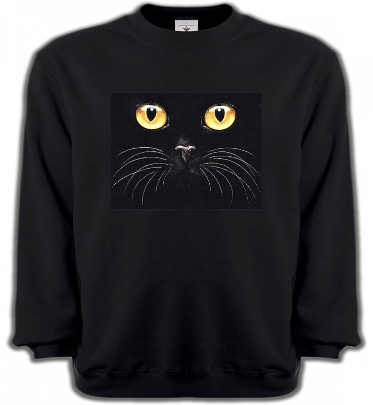 Sweatshirts Unisexe Races de chats Chat noir (H1)
