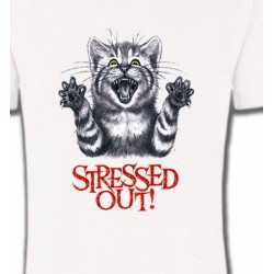 T-Shirts T-Shirts Col Rond Enfants Chat humour Stressed Out (V)