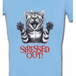 T-Shirts Races de chats Chat humour Stressed Out (V)