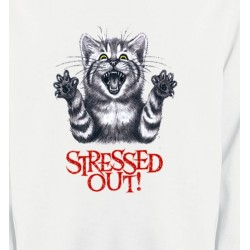 Sweatshirts Races de chats Chat humour Stressed Out (V)