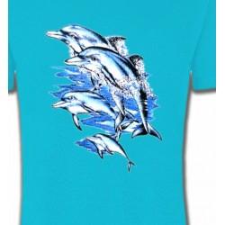 T-Shirts Aquatique Saut de dauphins