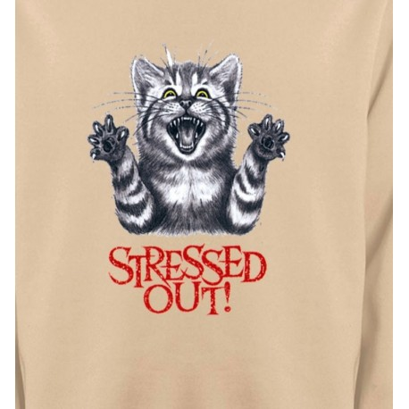 Chat humour Stressed Out (V)