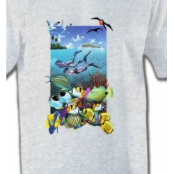 T-Shirts Aquatique Exploration de fond marin