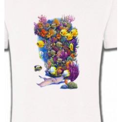 T-Shirts Aquatique Fond de l'océan (C2)