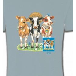 T-Shirts Devant/derrière Vaches (A1)