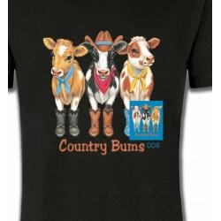 T-Shirts Devant/derrière Vache (FV1)