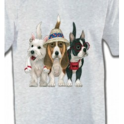 T-Shirts Devant/derrière Chiens en vacance