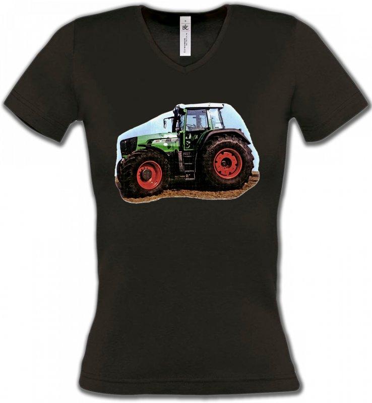 T-Shirts Col V FemmesTracteursTracteur(V)