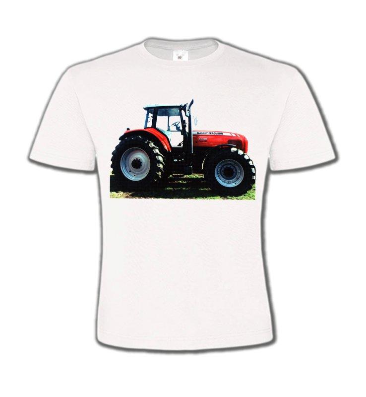 T-Shirts Col Rond EnfantsTracteursTracteur MASSEY FERGUSON (R)