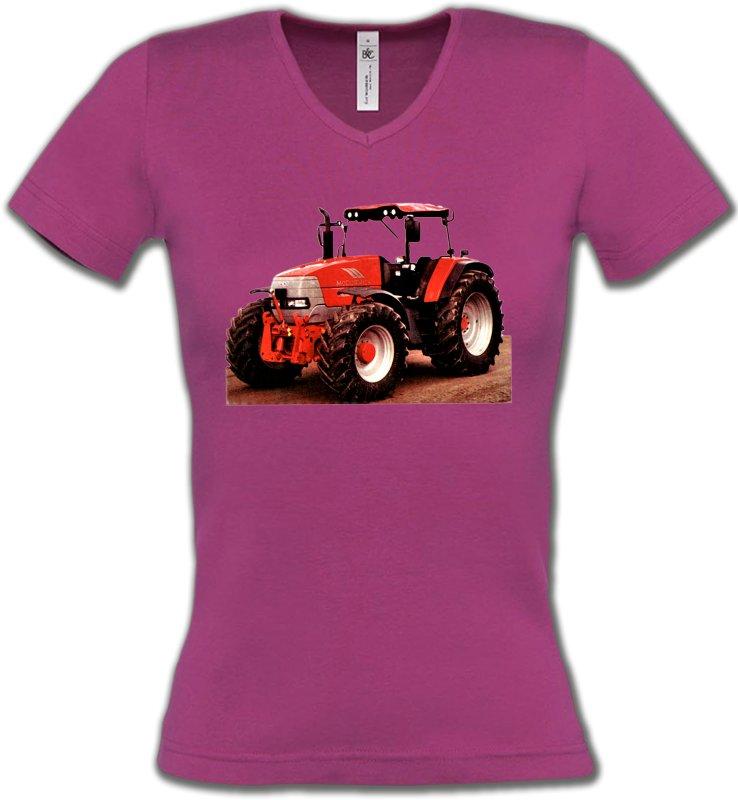T-Shirts Col V FemmesTracteursTracteur Mc CORMICK (T)