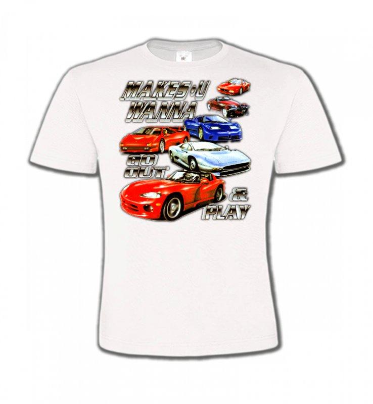 T-Shirts Col Rond EnfantsVoituresVoiture Passion (O)