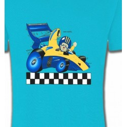 T-Shirts Enfants Voiture de course avec nounours (J2)