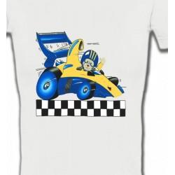 T-Shirts Véhicule Voiture de course avec nounours (J2)