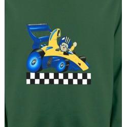 Sweatshirts Véhicule Voiture de course avec nounours (J2)