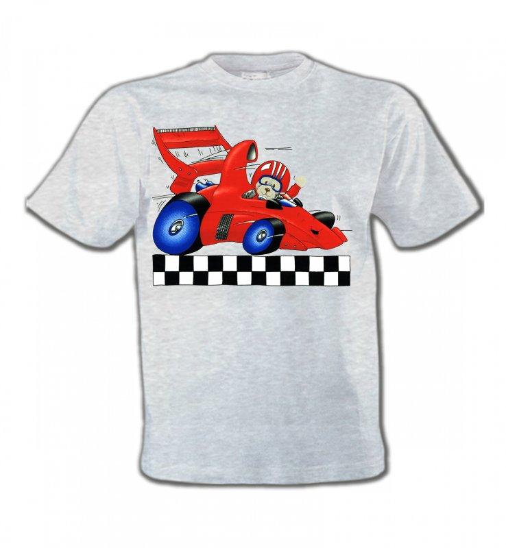 T-Shirts Col Rond EnfantsEnfantsNounours dans voiture de course (K2)