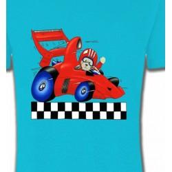 T-Shirts Enfants Nounours dans voiture de course (K2)