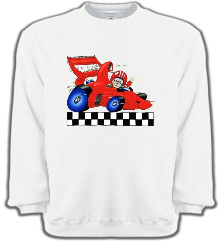 Sweatshirts UnisexeEnfantsNounours dans voiture de course (K2)
