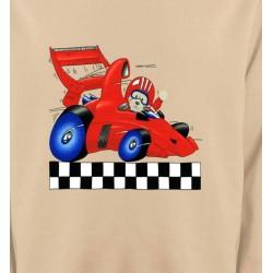 Sweatshirts Véhicule Nounours dans voiture de course (K2)
