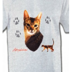 T-Shirts T-Shirts Col Rond Enfants Chat Abyssin (P)