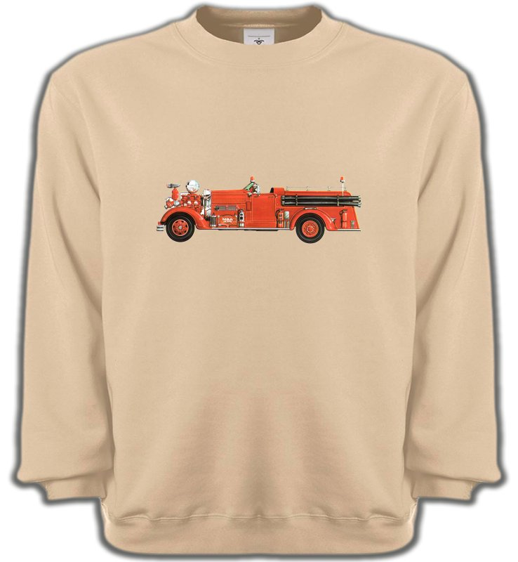 Sweatshirts UnisexeCamionsCamion de pompier (J)
