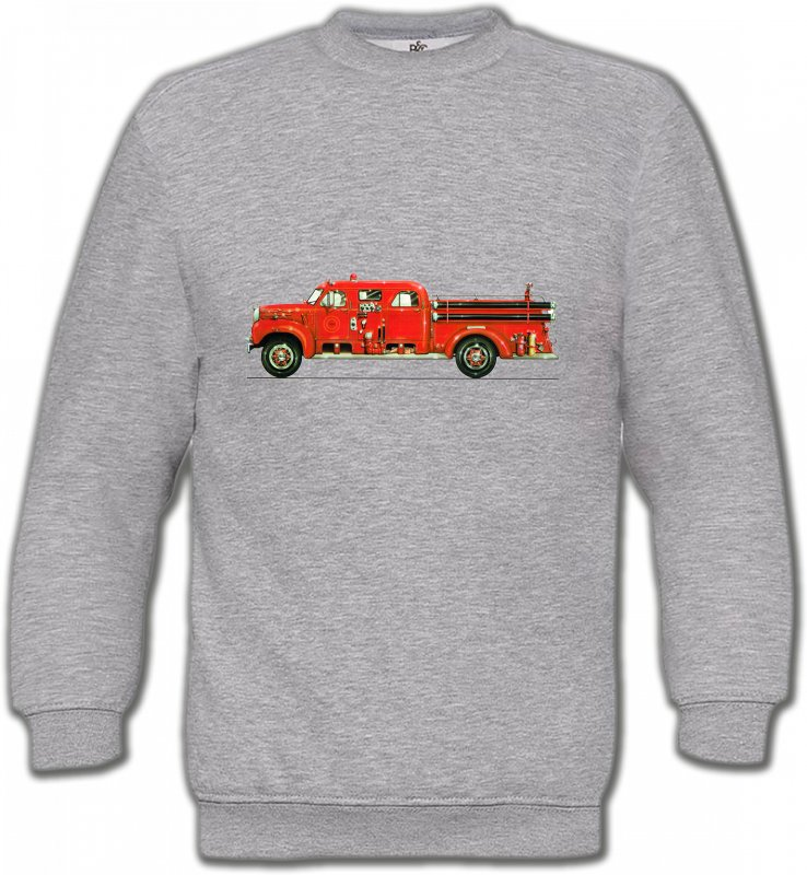 Sweatshirts UnisexeCamionsCamion de pompier (L)