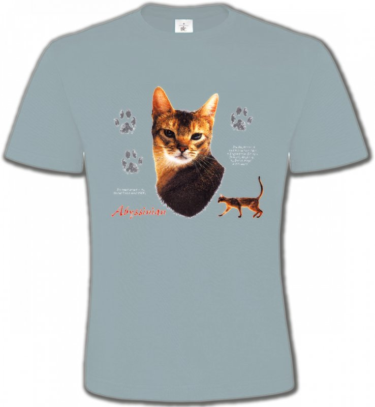 T-Shirts Col Rond UnisexeRaces de chatsChat Abyssin (P)