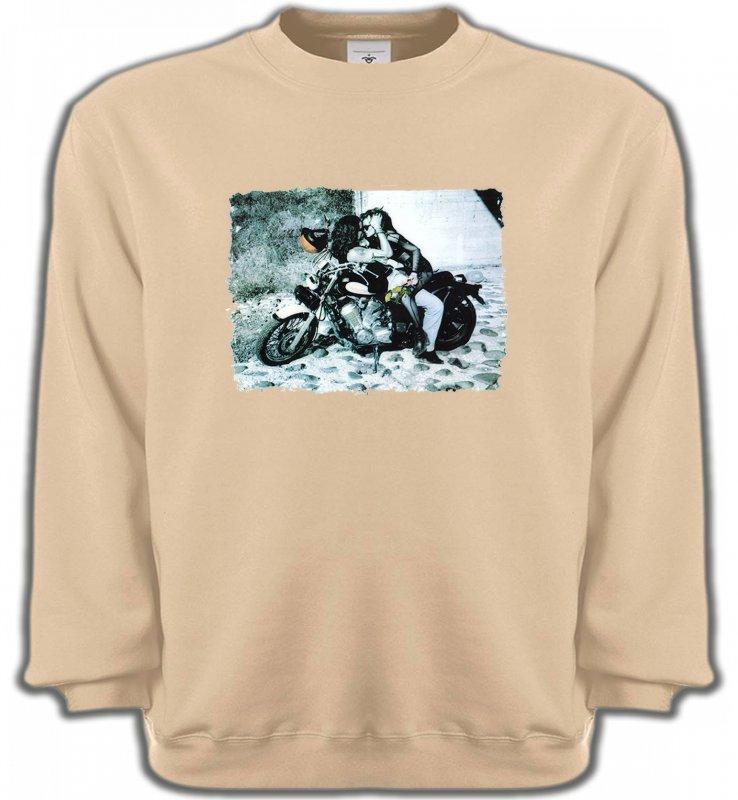 Sweatshirts UnisexeFleurs/RomantiqueCouple romantique sur moto
