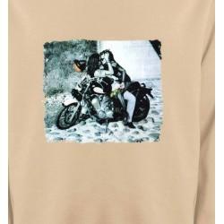 Sweatshirts Véhicule Couple romantique sur moto