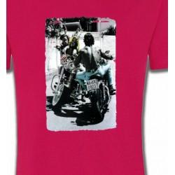 T-Shirts Fleurs/Romantique Romantisme et Moto