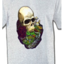T-Shirts Tribal Métal Celtique Tête de mort (Bikers)