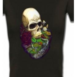 T-Shirts Véhicule Tête de mort (Bikers)