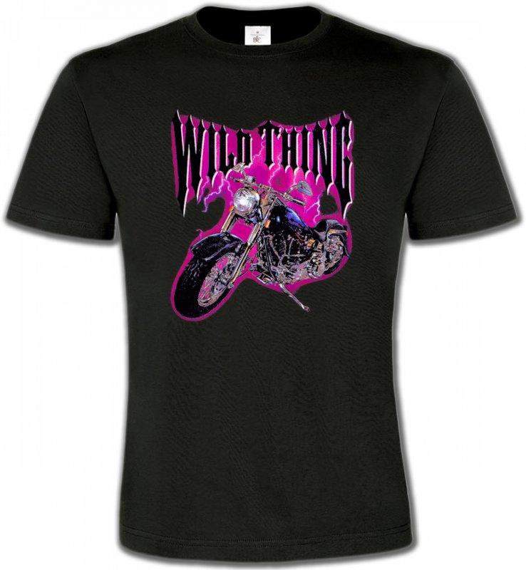 T-Shirts Col Rond UnisexeTribal Métal CeltiqueMoto Wild Thing