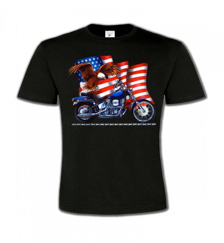 T-Shirts Col Rond EnfantsAiglesAigle et moto américaine