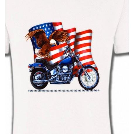 Aigle et moto américaine