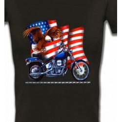 T-Shirts Aigles Aigle et moto américaine