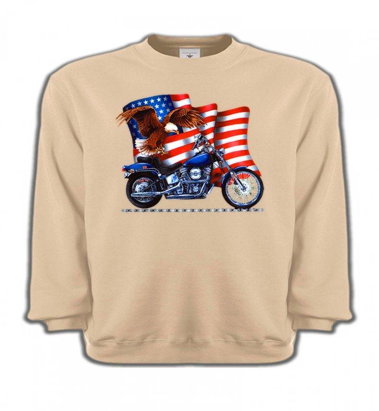 Sweatshirts EnfantsAiglesAigle et moto américaine