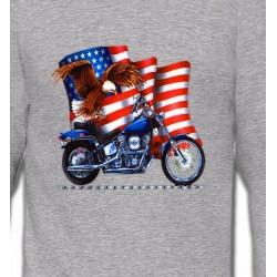 Sweatshirts Aigles Aigle et moto américaine