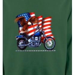 Sweatshirts Véhicule Aigle et moto américaine