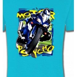 T-Shirts Sports et passions Moto psycho (O)