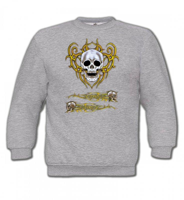 Sweatshirts EnfantsTribal Métal CeltiqueCrâne tribal (Bikers)