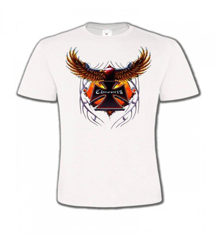 T-Shirts Col Rond EnfantsTribal Métal CeltiqueCroix choppers et ailes (Bikers)