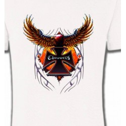 T-Shirts Tribal Métal Celtique Croix choppers et ailes (Bikers)