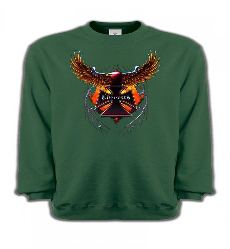 Sweatshirts EnfantsTribal Métal CeltiqueCroix choppers et ailes (Bikers)